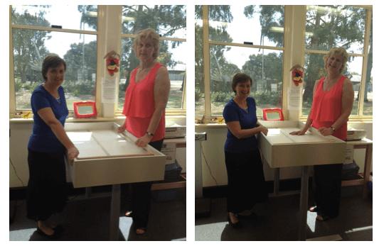 custom made height adjustable table