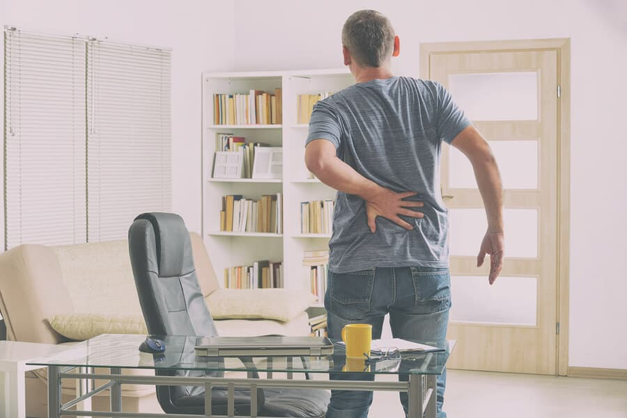 Sit-stand desks to reduce back pain