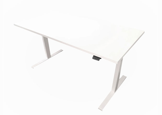 Edesk with white desktop and white frame